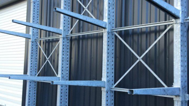 Cantilever galvanisé extérieur charges lourdes